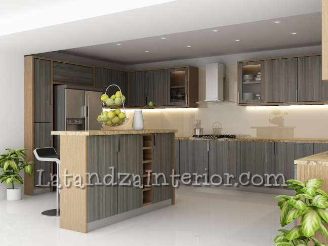 design interior kitchen set minimalis. Kitchen Set minimalis kayu Modern Design  Latandza Interior Furniture
